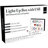 KEPLIN® A4 Enhanced Energy Efficient LED Cinematic Light Up Your Life Letter Box with 90 Multi Coloured Characters/Symbols, Storage USB LEAD