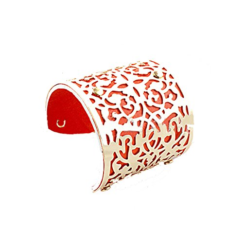 mode-elegant-creatif-creux-chaine-en-cuir-colore-large-bracelet-manchette-ouverteorange