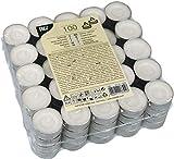 PAPSTAR Teelichter, Durchmesser: 38 mm, weiß, Sie erhalten 1 Packung, Packungsinhalt: 100 Stück