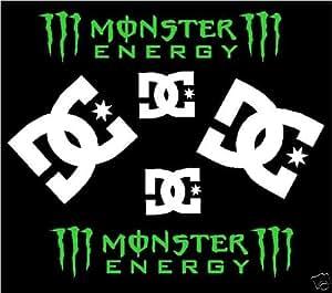 x 6 dc monster energy stickers kit amazon co uk car Fox and Monster Logo Wallpaper Fox and Monster Logo