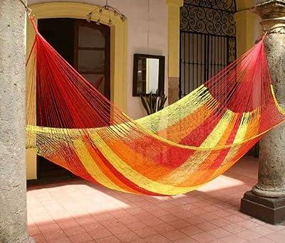 MacaMex MA-00231 Hängematte, Mexikanische Netzhängematte XL 3 Personen, 410 x 250 x 150 cm, solar von MacaMex auf Gartenmöbel von Du und Dein Garten