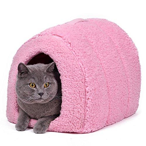 PAWZ Road Cama animal doméstico gato Igloo cama Fleece