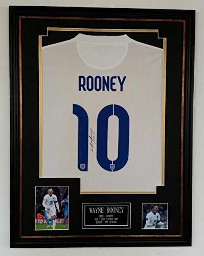 WAYNE-ROONEY-Signed-England-Shirt-AFTAL-DEALER-RECORD-GOALSCORER-YEAR