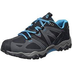 Merrell - Grassbow Sport - Chaussure de marche nordique - Femme - Noir (Black/Light Blue) - 37 EU