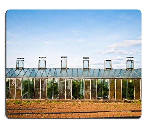 Liili Mauspad Naturkautschuk Mousepads Vintage Gewächshaus mit Glas Windows und einem blauen Himmel...
