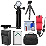 Intova Underwater LED Action Video Light & Camera Bracket + NP-BX1 Battery/Charger +