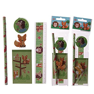 Cute Little Fox Design 5 Piece Stationary Set