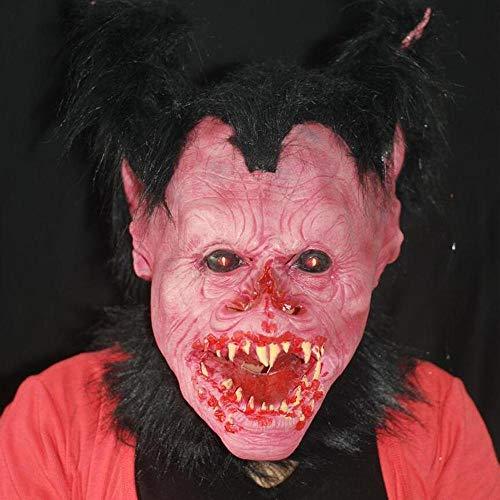 Quality Halloween Vampir Kopfbedeckung Scary Wicked Horror Monster Alice Red Gesicht Brunette Devil Mask Dress Up
