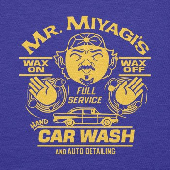 TEXLAB - Mr. Miyagi's Car Wash - Herren Langarm T-Shirt Marine