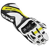 Handschuhe Leder Spidi sts-r bianco-nero-giallo Fluo TG. L