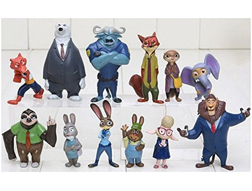 Zootopia Zootropolis Judy Hopps Nick Wilde Mr Big 12 Piece Toy Set