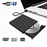 Externes CD Laufwerk USB 3.0 Tragbarer DVD Player, Paragala Hervorragender CD DVD Laufwerk Brenner Reader Writer mit Touch Taste Externes DVD Laufwerk für Mac Laptop Notebook und Desktop (black-2#)