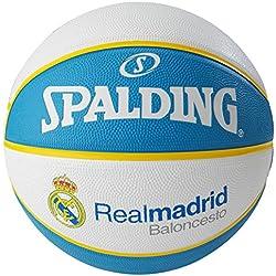 Spalding El Team Real Madrid Sz.7, (83-118Z) Balón de Baloncesto, Blanco / Azul, 7