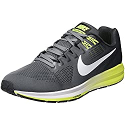 Nike Air Zoom Structure 21, Zapatillas de Running para Hombre, Gris (Cool Grey/Anthracite/Volt/White), 45 EU