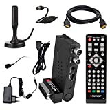 HB Digital DVB-T/T2 Set: Opticum HD AX Lion Air 2 HEVC DVB-T/T2 Receiver + Xoro Han 100 DVB-T/T2, FM, DAB Aktive Antenne (Full HD, HEVC/H.265, HDTV, HDMI, SCART, USB 2.0 DVBT DVBT2 DVB-T2)