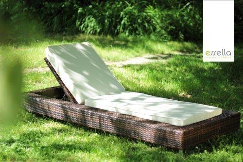 Preisvergleich Produktbild Essella Polyrattan Sonnenliege Long Island In  Bicolor Braun
