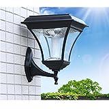 GRFH Solar Lampe Wandleuchte LED Wände Europäische Hof Lampe Zaun Lampe Außenwand Tau Wasserdicht Outdoor Wand Lampe Glas Schirm