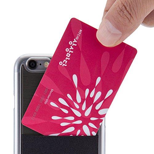 iPhone 6 / 6s Hülle mit Kartenhalter, Sinjimoru iPhone 6 / 6s Case mit Kartenfach, Rundumschutz. Sinji Pouch Case für iPhone 6 / 6s, Schwarz. Violett