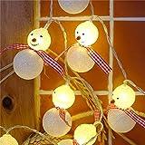 Ciojio Weihnachtsbeleuchtung 30cm 20 warmweiße LED Schneemann Lichterketten Weihnachtsdekorationen zum Weihnachtsfeier,Hochzeit,Neujahr, Garten-Dekor (A2)