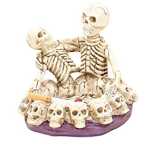 Festival Tricky Scary geschnitzt Funny Spoof Totenkopf Skelett Paar Umarmungen Brothers Blumentopf Aschenbecher Friend 's Best Geschenk (Blumentopf Halloween Kostüm)