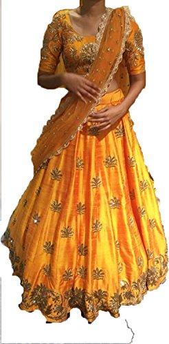 Sai creation Silk Lehenga Choli (Sc1741_Multicolor_Free Size)