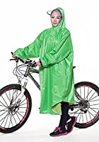 Icegrey Adult Lightweight PVC Long Size Hooded Raincoat Bicycle Cycling Rain Cape Poncho With Sleeves Green 3XL