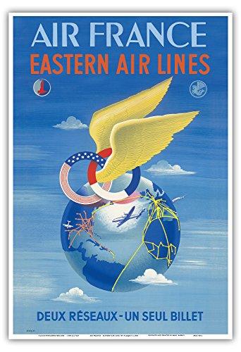 air-france-eastern-air-lines-deux-reseaux-dos-redes-un-boleto-unico-vintage-airline-travel-poster-by