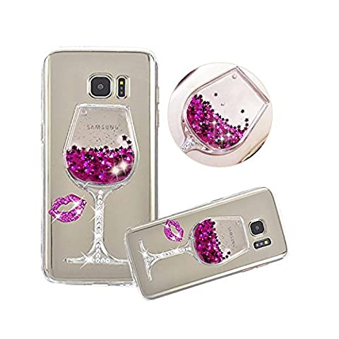 Galaxy S7 Hülle,Shinetop Flüssig Schutzhülle Soft Weich TPU Silikon Transparent