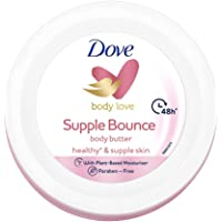 Dove Body Love Supple Bounce Body Butter Paraben Free, 48Hrs Moisturisation with Plant based Moisturiser Supple and…
