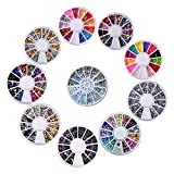 Biutee model 10 wheels Nail Art Strass Set Strass steine