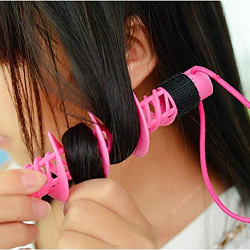 Homclo 2 Stück Lockenwickler magic Diy spiral rollen Haare roller Lockenstäbe kunststoff mit Styling-Werkzeug haarschonend Damen Frauen