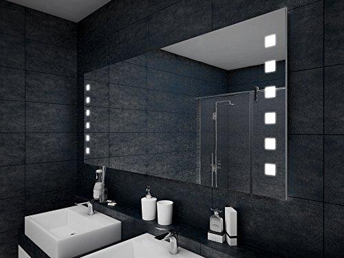 Design Badspiegel mit LED Beleuchtung Wandspiegel Badezimmerspiegel nach Maß - 3