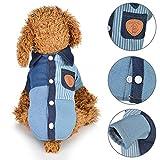 FeiyanfyQ Hunde-Jeans-Shirt, atmungsaktiv, Farbblock, für Herbst und Winter