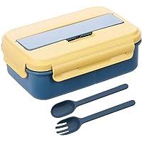 Eastor lunch box,1000ml bento box avec 3 Compartiments et Couverts,de Sécurité Leakproof Boîtes, boite repas…