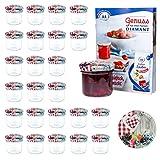 MamboCat 25er 125 ml Sturzglas-Set | Einmachgläser + Twist-Off-Deckel Holz-Herz-Früchte-Dekor + Gratis Rezeptheft | einkochen & konservieren | Vorratsgläser | backofengeeignet
