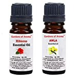 Gardens of Aroma - Hibiscus 10ml Essential Oils. Amla Essential Oil 10ml, Luxurious and Premium, High Quality, and Undiluted, Organic and Therapeutic Grade - Exceptional Choice for Aromatherapy, Massage and Aroma Diffusers - Suitable for All Skin Types - Use for Hair Care and Skin Care.