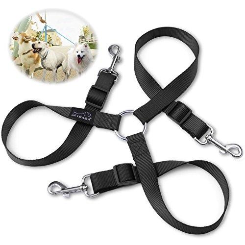 hundeleine-doppelleine-petbaba-30-50cm-lang-verstellbar-nylon-training-hunde-leine-fur-3-hunde-schwa
