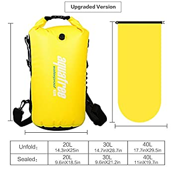 Aquafree Dry Bag, 20l Yellow Dry Backpack, Comfortable & Heavy-duty Grab Handle & Shoulder Strap, Best Material Waterproof Backpack, Quality Roll Top, Waterproof 9