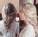 Aukmla catena testa sposa–Accessori matrimonio con strass di cristallo per donne e ragazze (argento) immagine