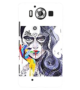 PRINTSWAG GIRL ART Designer Back Cover Case for MICROSOFT LUMIA 950