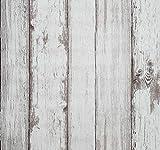 Papier contact de papier peint Adhésif Revêtement mural Vinyle En Bois Décoratif Auto Collant Peler et coller Imperméable À L'eau À Suspendre Papier Pour Décorations Murales (0.53 * 5.65m, Bois)