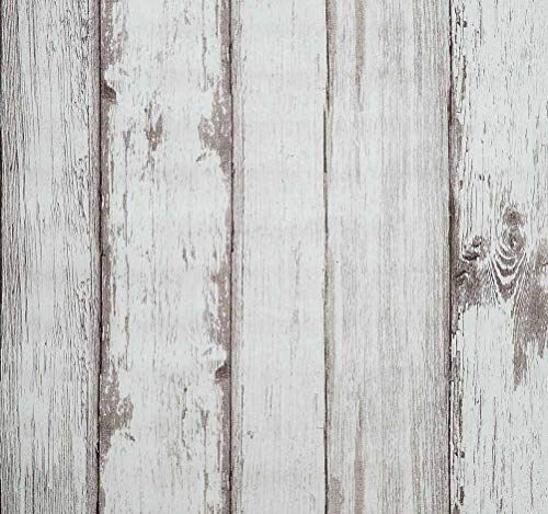 (Tapeten Kontakt Papier 31.6 Quadratfuß-Wandbedeckung Beunruhigter Holz Dekorative Selbstklebende Schälen Und Haften Wasserdichtes Hängendes Papier Für Wand-Dekor (0.53 * 5.65M, Holz))