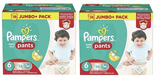 Preisvergleich Produktbild Pampers Baby Dry Pants Größe 6 Extra Large 15+kg Jumbo Plus Pack 116 Windeln