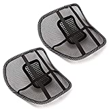 Vheelocityin Mesh Ventilation Back Rest with Lumbar Support (Pack of 2, Black)