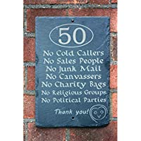 No cold caller house number slate