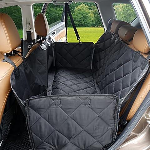 [mise à jour] de voiture Chien Hamac, Pet Housse de siège de voiture avec Extra plafonds antidérapant, anti-rayures, anti-tache, pour voitures camions et SUV