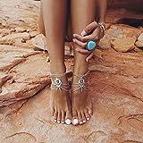 Elistelle 1pcs Wassertropfen türkis Strand Fußkettchen Fuß Verzierungen