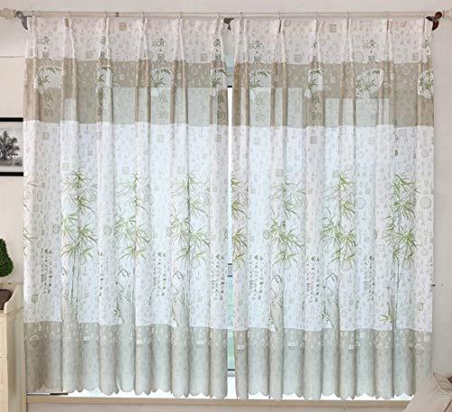 Aooword-home flächenvorhänge vorhänge Haken wohnkultur blockout Eyelet Easy Care Printing Blumen Energy smart Saving für Schlafzimmer, Wohnzimmer, Gemustert, (1 Panel) 79x79inch Grün+Weiß -
