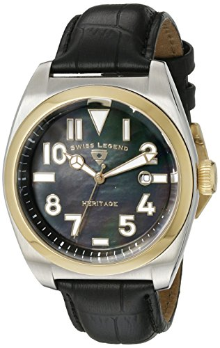 Swiss Legend Heritage 20434-01MOP-GB Stainless Steel Case Patent Leather Anti-Reflective Sapphire Men's Watch