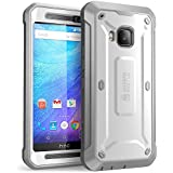 HTC One M9 Case, SUPCASE Full-body Rugged Holster Case with Built-in Screen Protector for HTC One M9 (2015 Release), Unicorn Beetle PRO Series - Retail Package (White/Black)